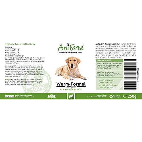 AniForte Wurm-Formel 250 g- Naturprodukt für Hunde -