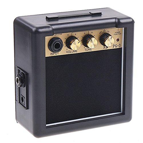 Andoer PG-3 3W elektrisch Gitarren-Verstärker Amp mit Lautsprecher & Volumen-Ton Kontrolle
