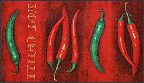 wash+dry Fußmatte Hot Chili 75x120 cm