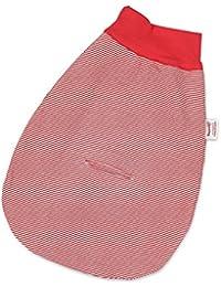HOPPEDIZ strampel Saco de rayas, color rojo y blanco, con correa Ranura