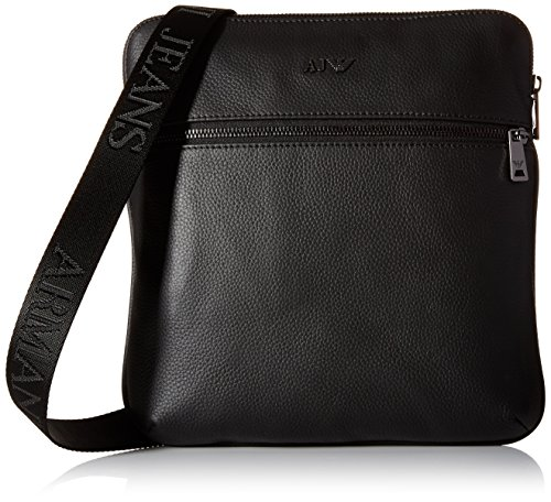 Armani Jeans messenger bag man leather black