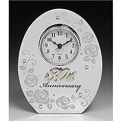 Idea Regalo - NUOVO SPECCHIO 30 ° ANNIVERSARIO PEARL OVALE MIRROR CLOCK Pearl REGALO di nozze