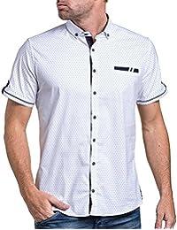 BLZ jeans - Chemisette chic blanche à motifs fausse poche poitrine
