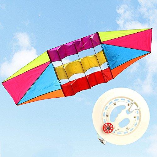 Kreativer Radar-Drachen-Satelliten-Drachen-Kite, Der Für Kinder Und Erwachsene-Einfach Ist, Im Steifen Wind Oder In Der Weichen Brise Zu Starten - Einzigartiger Ringhandgriff - Errichtet, Um Zu Dauern - Groß Für Familien-Spaß