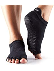 Toesox Ytoentlrblks, Calze per Yoga E Pilates Unisex – Adulto, Black, Small