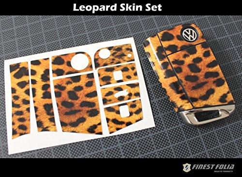 Leopard Folie Dekor Schlüssel Seat Leon 3 III 5F Toledo IV Ibiza 6J Cupra Carbon (Leopard-folie)