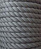 Großhandel für Schneiderbedarf 3 m Baumwollkordel 10 mm grau/mittel grau