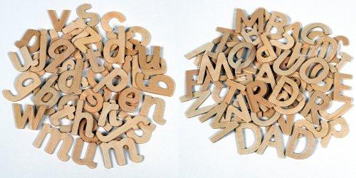Alphabet aus Holz Buchstaben, groß- und Kleinschreibung 180 Stück ca.