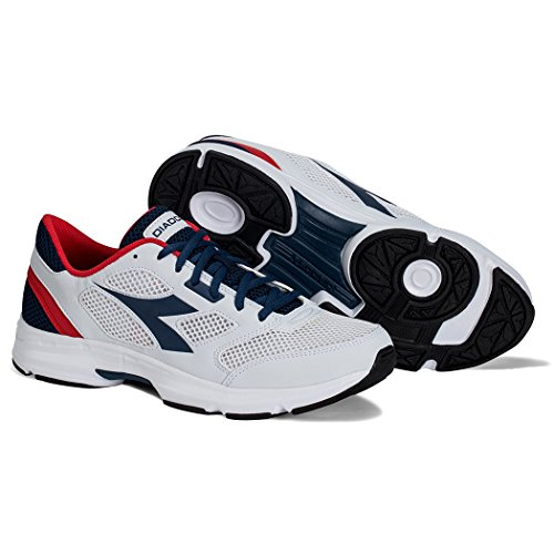 Diadora Shape 7, Chaussures de Course Mixte Adulte SALTIRE/NAVY WHITE