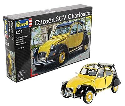 Revell Modellbausatz 07095 Citroen 2CV- Reproducción de Citröen clásico (escala 1:24) de Revell