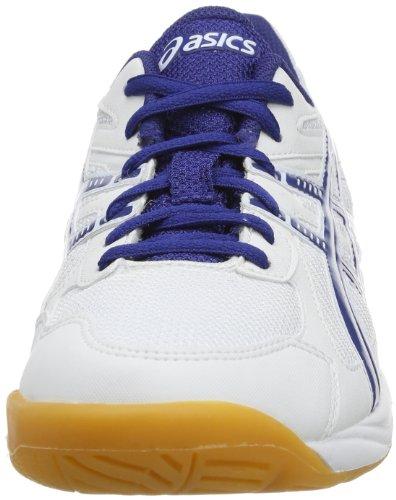 Asics GEL-DOHA GS C206Y Unisex-Erwachsene SchnÃ1/4rhalbschuhe Weiß (White Dark Blue Silver)
