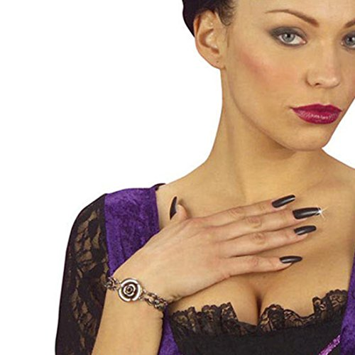 he Nägel schwarz Künstliche Fingernägel 15 STK. Hexen Kunstnägel Fasching Vampir Faschingsnägel Nail Extansions Gothic Kunstfingernägel Halloween Mottoparty Black Nails ()