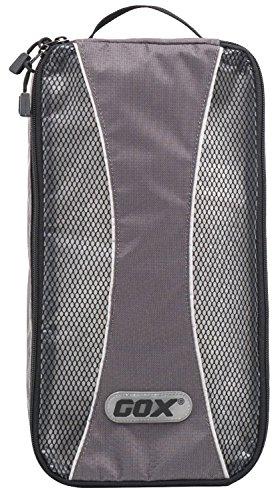 Custodia per Scarpe, GOX Premium Impermeabile Portatile Borsa Scarpe di Viaggio Sacchetto in 420D Nylon / Organizzatore con Chiusura a Cerniera / Sacchetto porta scarpe (Grigio)