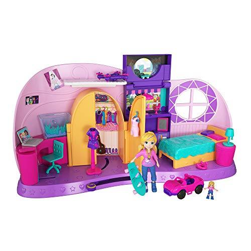 Polly Pocket Cameretta di Polly Aree di Gioco e Tante Sorprese, Una Bambola e Una Micro Doll Incluse, FRY98