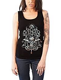 Avenged Sevenfold Weste Hail To The King Glow Logo offiziell damen Skinny Fit