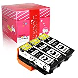 Cseein 3x Kompatibel Ersatz für 33XL Schwarz Druckerpatronen Hohe Kapazität mit Expression Premium XP-530 XP-540 XP-630 XP-635 XP-640 XP-645 XP-830 XP-900 (3x T3351)