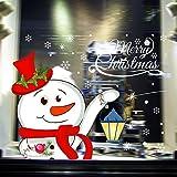 Webla Fensterbilder für Weihnachten,Fensterdeko -Statisch Haftende PVC Aufklebe,Weihnachten Aufkleber, Xmas Aufkleber Fenster haftet leimlosen PVC Wandaufkleber für Gläser (Mehrfarbig)