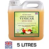 Pure Source Nutrition RAW Apple Cider Vinegar with Mother 5 Litres Applecider Weight Loss Detox Organic / Unfiltered / Unheated / Unpasteurised