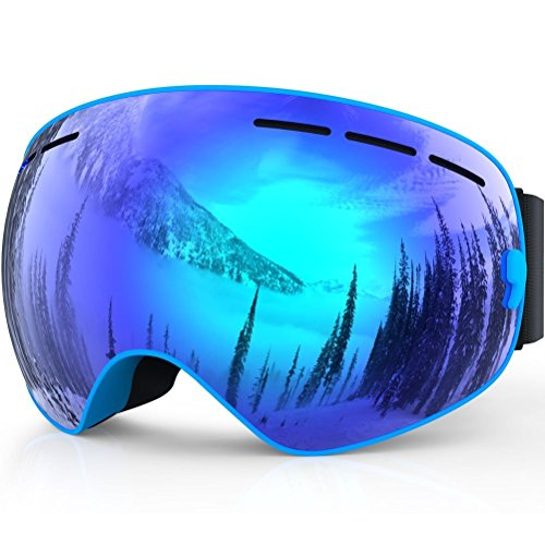 6e248effa3 Gafas de esquí, Benice profesional UV Protección Gafas de esquí con  desmontable Lens y Lente