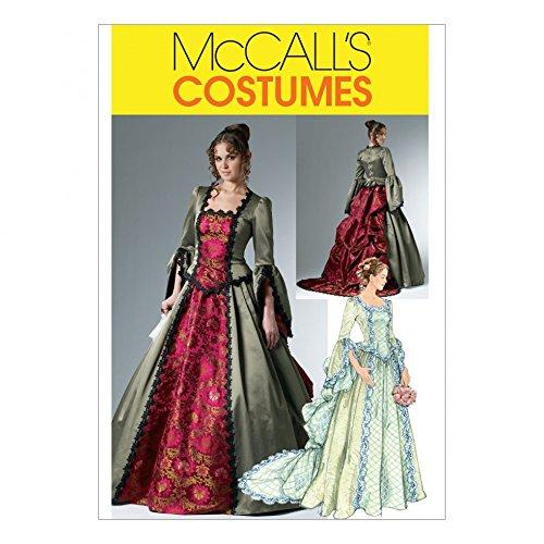 Kostüm Historischen Muster (McCall 's Schnittmuster 6097Damen Historisches Kostüm Größen:)