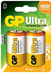 GP Ultra Alkaline D card of 2 from AVSL