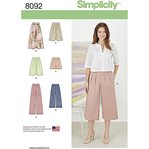 Simplicity Misses Skirts/Pants/Culottes and Shorts Sewing Pattern, Paper