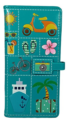 Shagwear portafoglio per giovani donne , Large Purse : Diversi colori e design: Icone estive / Summer Icons