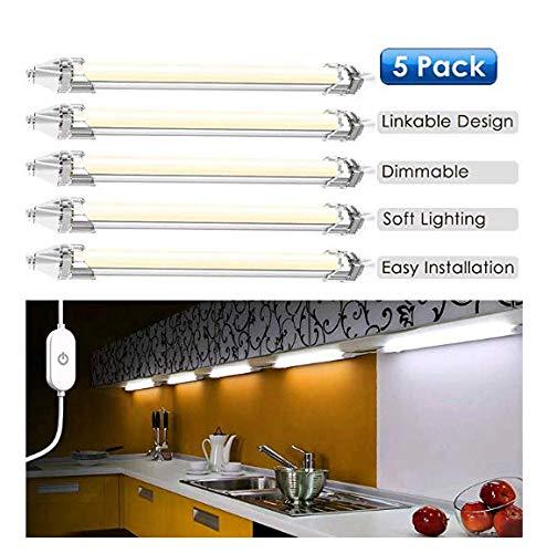Led Lichtleiste Küche, LED Unterbauleuchte Schrankleuchte 5 Stück LED Schrankbeleuchtung mit...