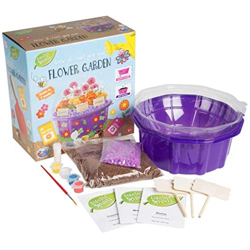 Grafix Grow & Paint Your Own Flower Garden Kids Creative Craft Set