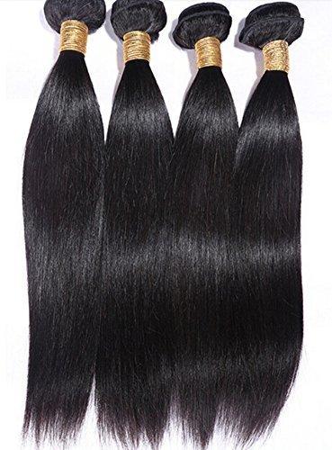 (16 16 16 40,6 cm) 100% Péruvien Extensions de cheveux humains trames Deals couleur naturelle 50 g/PS 4 pièces/lot) Total 200 g 4ps Lots (14...