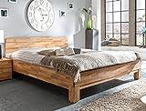 Massivholzbett Rino 180x200 Wildeiche geölt Doppelbett Ehebett Schlafzimmer Holzbett Bett