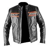 WWE Bill Goldberg Harley Davidson Vintage Motorrad Lederjacke (XL / Chest = 44' Between 46')