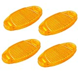 4er Set Katzenaugen Speichenlicht Reflektoren zum einklemmen orange gelb
