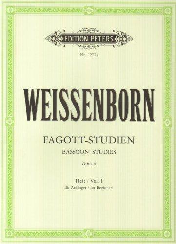 Fagott-Studien, Heft 1: Für Anfänger op. 8