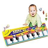 Malloom nuevo juego táctil teclado cantar música gimnasio alfombra estera niños bebé +...