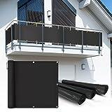 Balkon Sichtschutz 6x0,9 m anthrazit Balkonsichtschutz Balkonverkleidung Sichtschutzmatte Balkonverkleidung Balkonbespannung