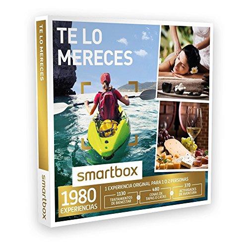 SMARTBOX – Caja Regalo – TE LO MERECES – 1980 experiencias como masajes, menús de tapas, catas, rutas en quad, canoa…