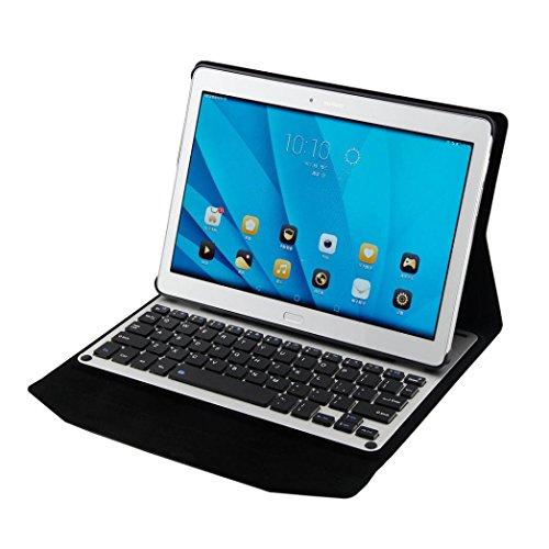 Preisvergleich Produktbild Hunpta Aluminium Tastatur Fall Gerät Stand für Huawei MediaPad M2 10.0 M2-A01 (Schwarz)
