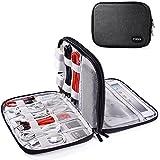 TYCKA Sac de Rangement de câbles, Organisateur de Voyage pour Accessoires Electronique, Câble, Cordon, Mini iPad, Kindle, USB