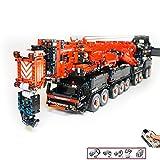 Technic Crane Building Blocks Kit con RC Motor, 7705 Pz RC Gru Heavy Duty Truck per Adulti O Regalo di Compleanno dei Bambini