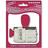 Paper Moon - Italiana Sellado de la vendimia + escrito x 12 - Scrapbooking, Card Making, Decoupage - 2 tamaños