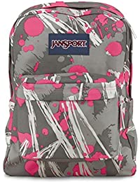 JanSport Superbreak fluoreszierend pink super Splash Rucksack