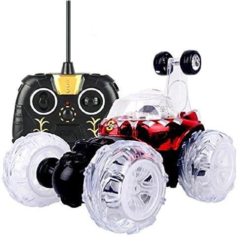 Vovotrade La música del coche del truco del giro de 360 luces del LED teledirigidas recargables