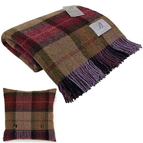 bronte-skye-check-mulberry-pure-new-shetland-wool-blanket-1-x-feather-filled-cushion-made-in-uk-moon