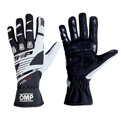 OMP OMPKK02743E076S Ks-3 Handschuhe My2018, Schwarz/Weiß, Größe S