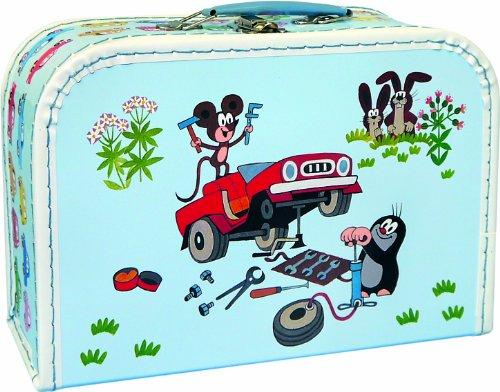 Maulwurfshop 4113 - Kinderkoffer der kleine Maulwurf 30 cm Pappe, hellblau