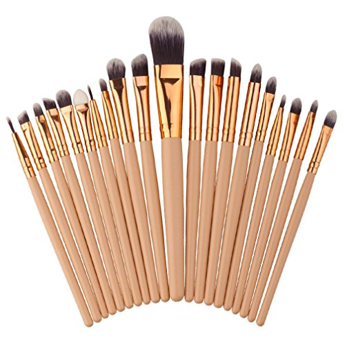 ZJENE Professional Make-up Pinsel Kosmetik Pinsel-Sets (Braun)