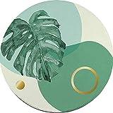 BSNOWF- Tappeto Tappeti tondi Morbidi, Salotto Stile Nordico, tavolino, Moquette, Sala Studio, Computer Girevole, Tappetino (Colore : G, Dimensioni : 120cm)