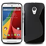 Premium S Line TPU Soft Silicon Gel Back Case Cover For Motorola Moto G2 second Generation. COLOR:BLACK This S Line TPU Case is made out of 100% premium material and is a great light-weight option for protecting The durable tpu absorbs any shock may ...