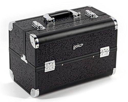 Geko, Vanity Case/Make-up-Box, schwarz Glitzer - Caroline Vanity